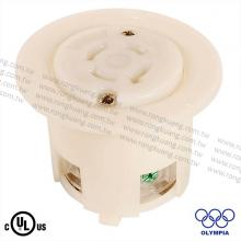 NEMA L16-20 Locking Flanged Outlet