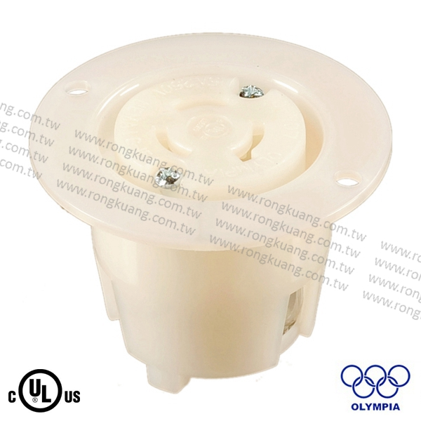 NEMA L6-15 Locking Flanged Outlet